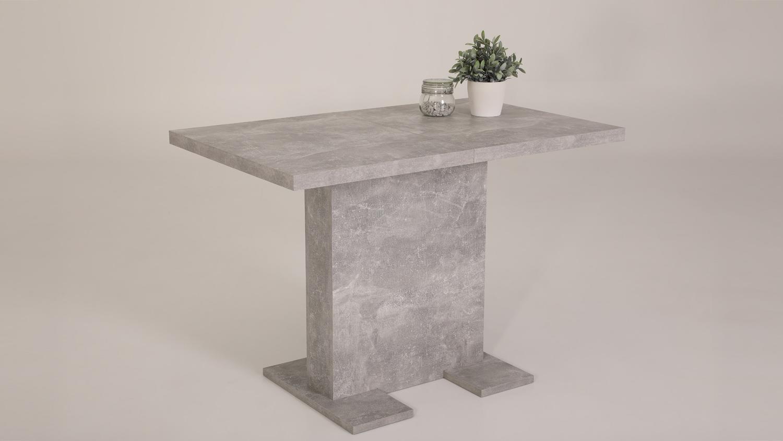 Esstisch BRITT Tisch Küchentisch Säulentisch in Beton 110-150 cm