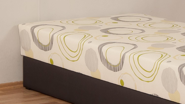 polsterliege kampen braun creme bonell federkern. Black Bedroom Furniture Sets. Home Design Ideas