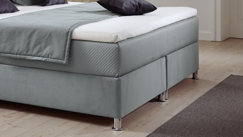 Box komfortbett diamond polsterbett stoff grau bettkasten for Komfortbett 180x200