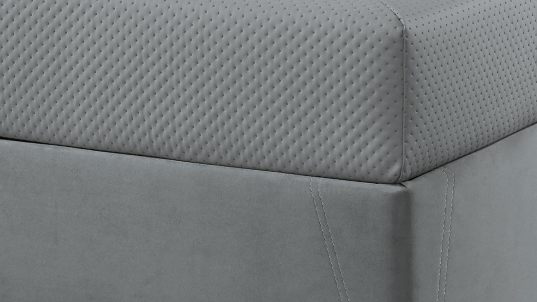 box komfortbett diamond polsterbett stoff grau bettkasten. Black Bedroom Furniture Sets. Home Design Ideas