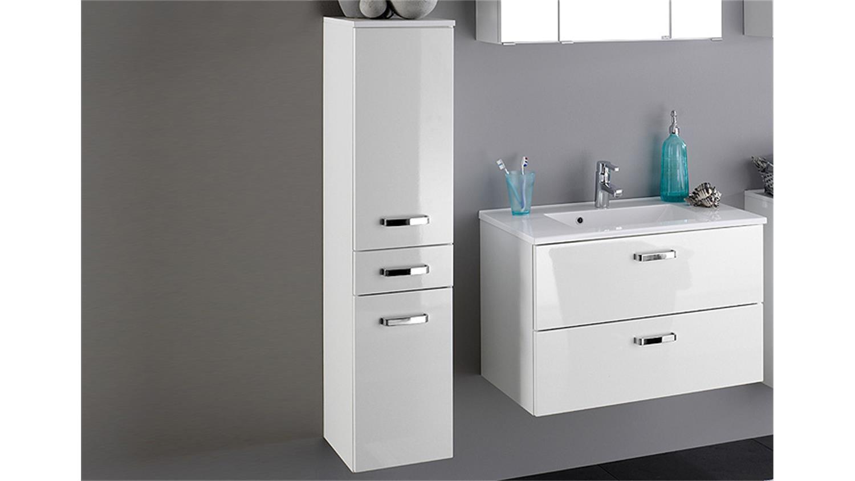 midischrank bologna badm bel wei hochglanz softclose. Black Bedroom Furniture Sets. Home Design Ideas