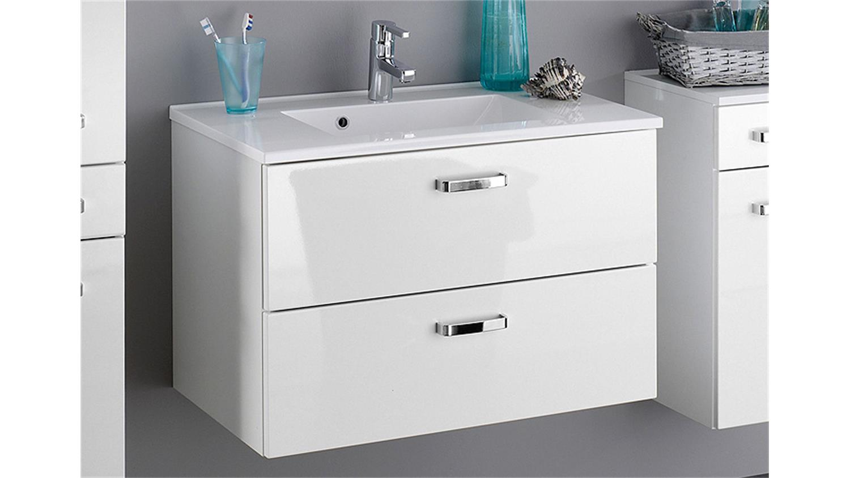 badezimmer set 1 bologna wei hochglanz inkl beleuchtung. Black Bedroom Furniture Sets. Home Design Ideas