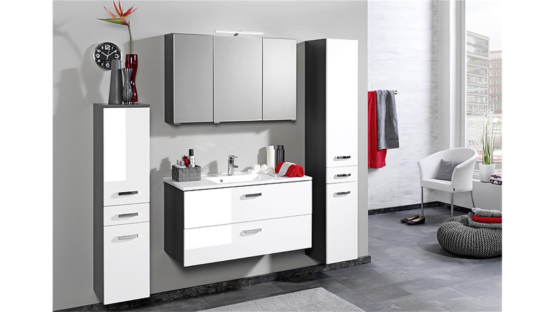 spiegelschrank bologna 90 cm badm bel grau aufbauleuchte. Black Bedroom Furniture Sets. Home Design Ideas