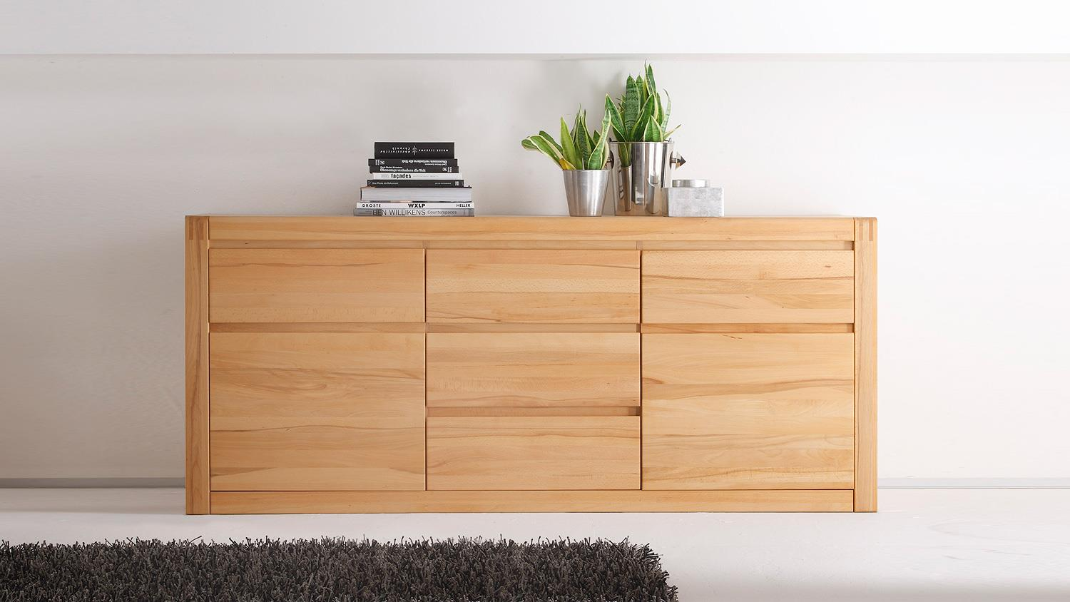 sideboard ponto kommode anrichte in kernbuche teilmassiv. Black Bedroom Furniture Sets. Home Design Ideas