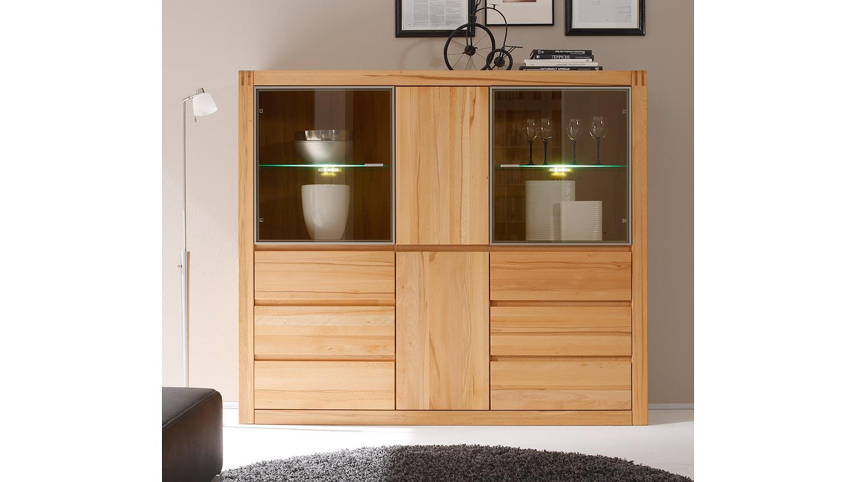 highboard ponto vitrine buffet schrank kernbuche teilmassiv. Black Bedroom Furniture Sets. Home Design Ideas