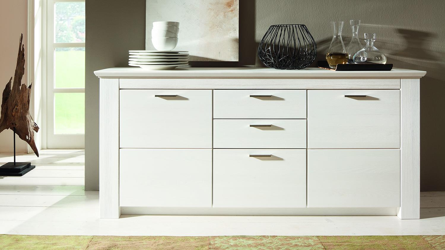 country sideboard mit einem boden weiss bxhxt 100x80x30. Black Bedroom Furniture Sets. Home Design Ideas