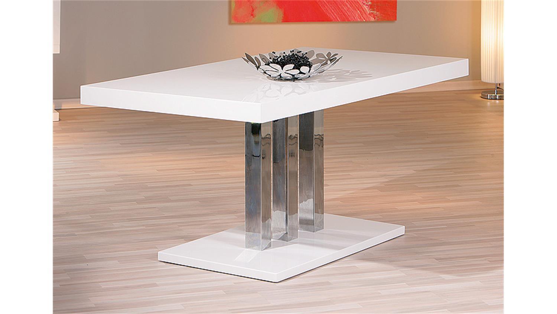esstisch palazzo mdf wei hochglanz 160x90 cm. Black Bedroom Furniture Sets. Home Design Ideas
