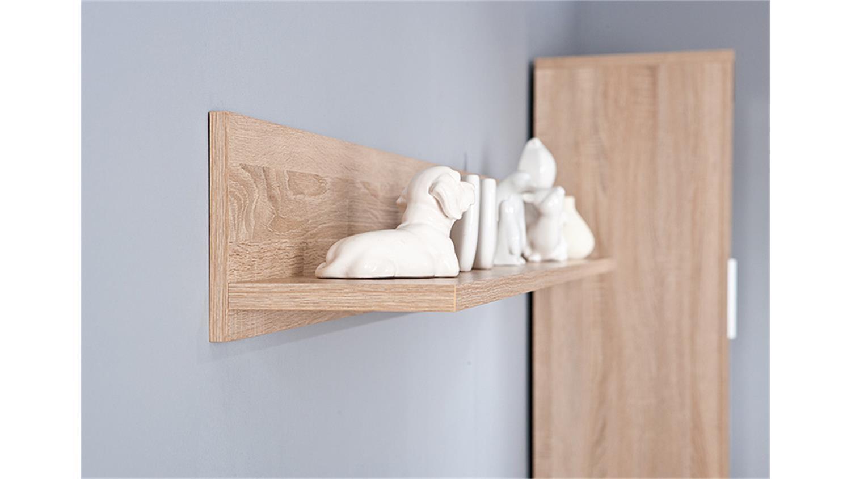 wandboard absoluto wandregal regal in sonoma eiche dekor. Black Bedroom Furniture Sets. Home Design Ideas