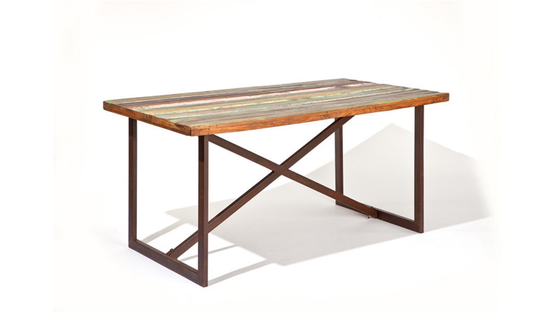 esstisch colori mango massiv metall rostfarbig. Black Bedroom Furniture Sets. Home Design Ideas