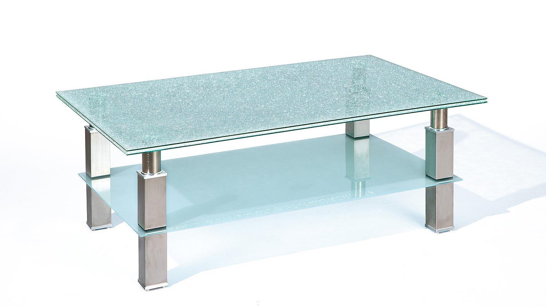 Design Couchtisch Metall 110x70cm Wildeiche Massiv