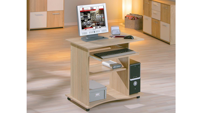 pc schreibtisch durini computertisch in sonoma eiche. Black Bedroom Furniture Sets. Home Design Ideas