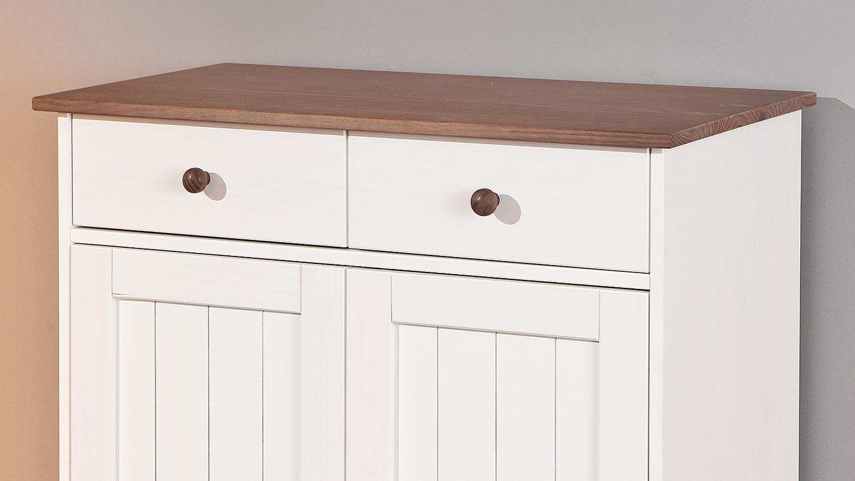 kommode schrank wei braun mit zehn schubladen 473 smash. Black Bedroom Furniture Sets. Home Design Ideas