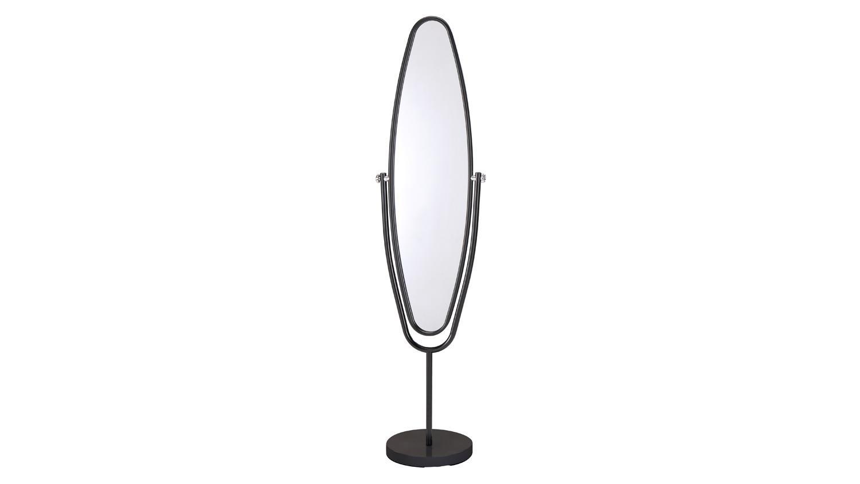 standspiegel ute spiegel mit metallrahmen schwarz schwenkbar 38x154 cm. Black Bedroom Furniture Sets. Home Design Ideas