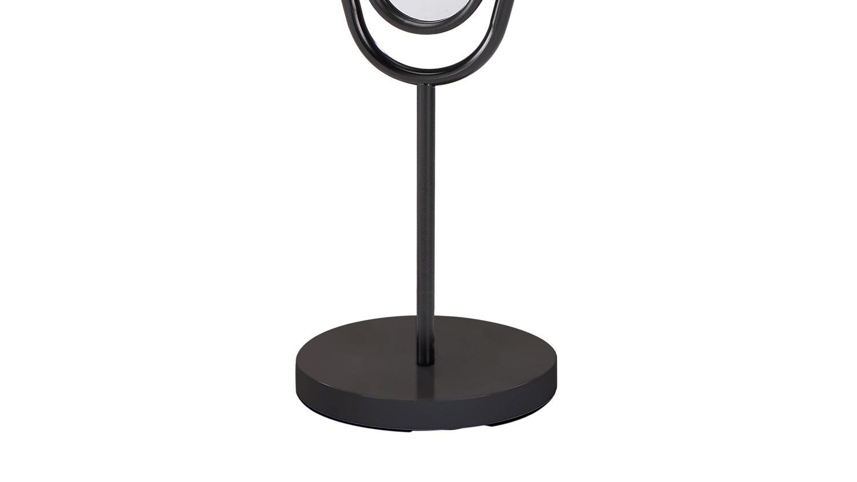 standspiegel ute spiegel mit metallrahmen schwarz. Black Bedroom Furniture Sets. Home Design Ideas
