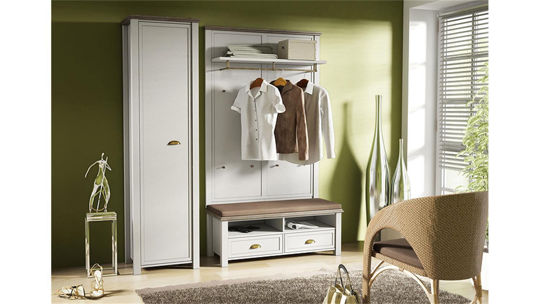 garderobe 3 chateau in wei und san remo eiche. Black Bedroom Furniture Sets. Home Design Ideas