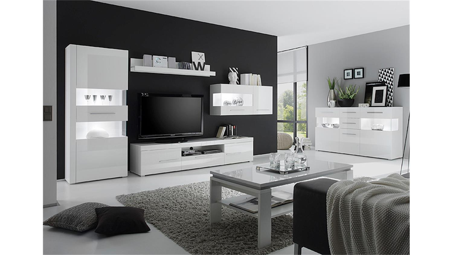 h ngevitrine star mdf wei hochglanz tiefzieh. Black Bedroom Furniture Sets. Home Design Ideas