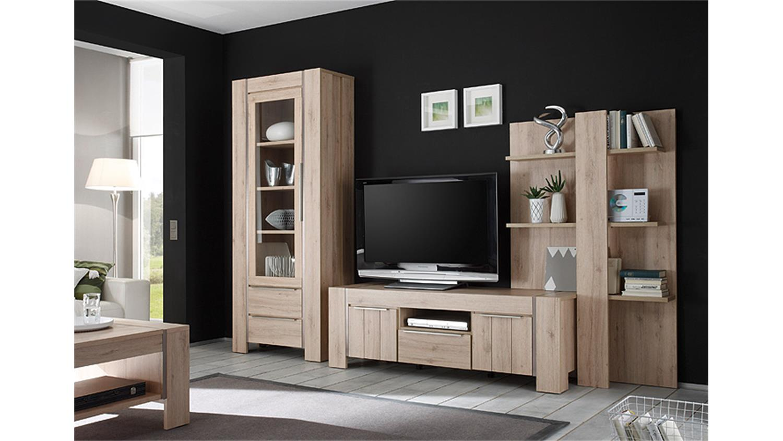 vitrine malm denmark eiche edelstahl optik geb rstet. Black Bedroom Furniture Sets. Home Design Ideas