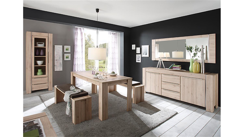 esstisch malm denmark eiche edelstahl optik geb rstet 180. Black Bedroom Furniture Sets. Home Design Ideas