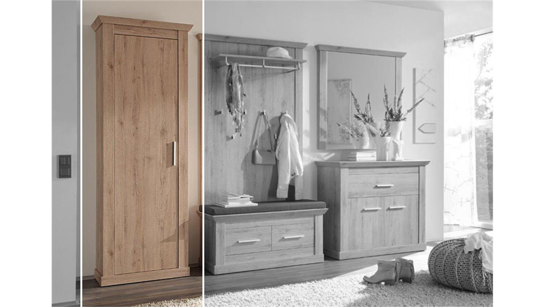 garderobenschrank 3 savona garderobe denmark eiche. Black Bedroom Furniture Sets. Home Design Ideas