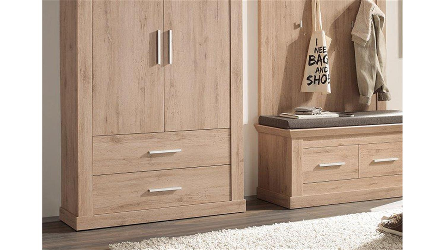 garderoben set 3 savona garderobe denmark eiche 3 teilig. Black Bedroom Furniture Sets. Home Design Ideas