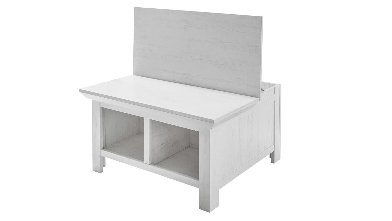 couchtisch westerland in pinie wei mit 2 k rben. Black Bedroom Furniture Sets. Home Design Ideas