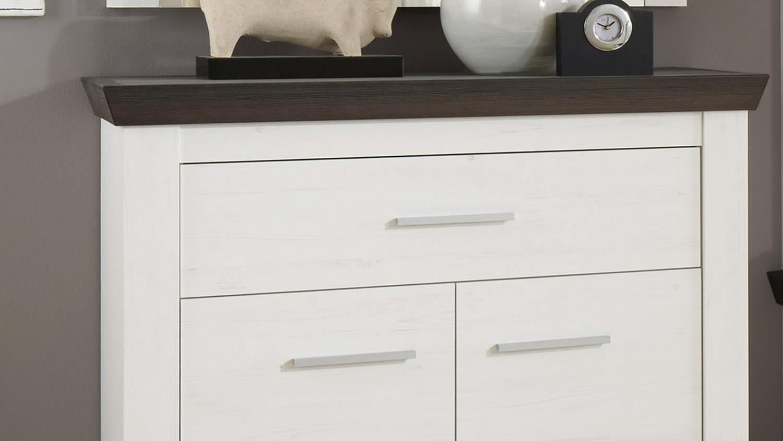 kommode tiena schrank pinie wei wenge haptik h 89 cm. Black Bedroom Furniture Sets. Home Design Ideas