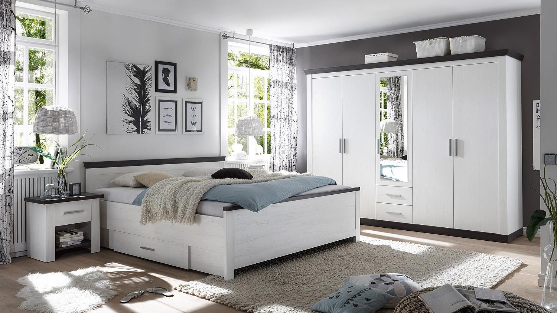Schlafzimmer tiena 4 teilig pinie wei abs wenge haptik - Schlafzimmer pinie ...