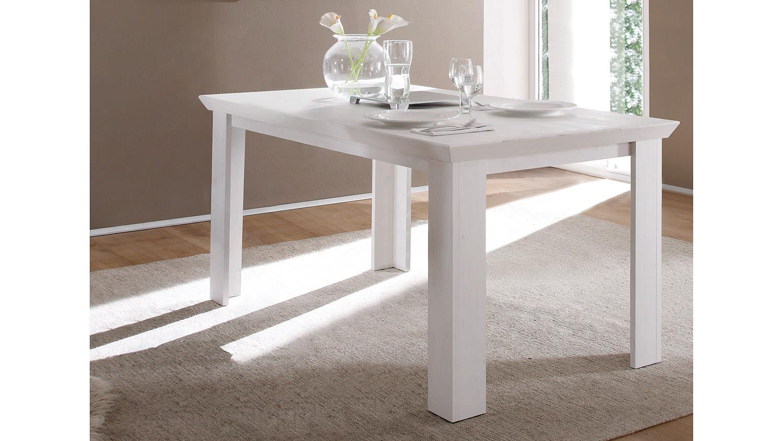 esstisch garden tisch in pinie wei 160x90 cm. Black Bedroom Furniture Sets. Home Design Ideas