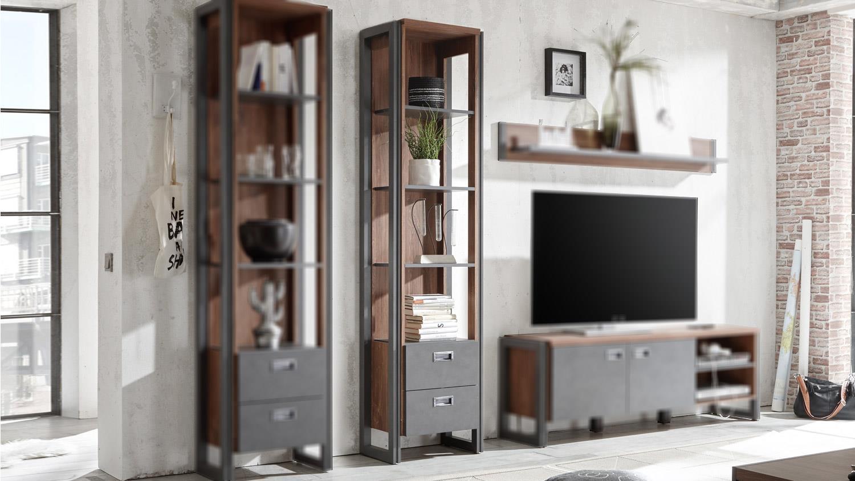 regal detroit schrank stirling oak und matera anthrazit. Black Bedroom Furniture Sets. Home Design Ideas