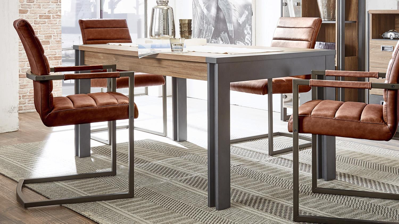 Esstisch DETROIT Tisch Stirling Oak und Matera anthrazit