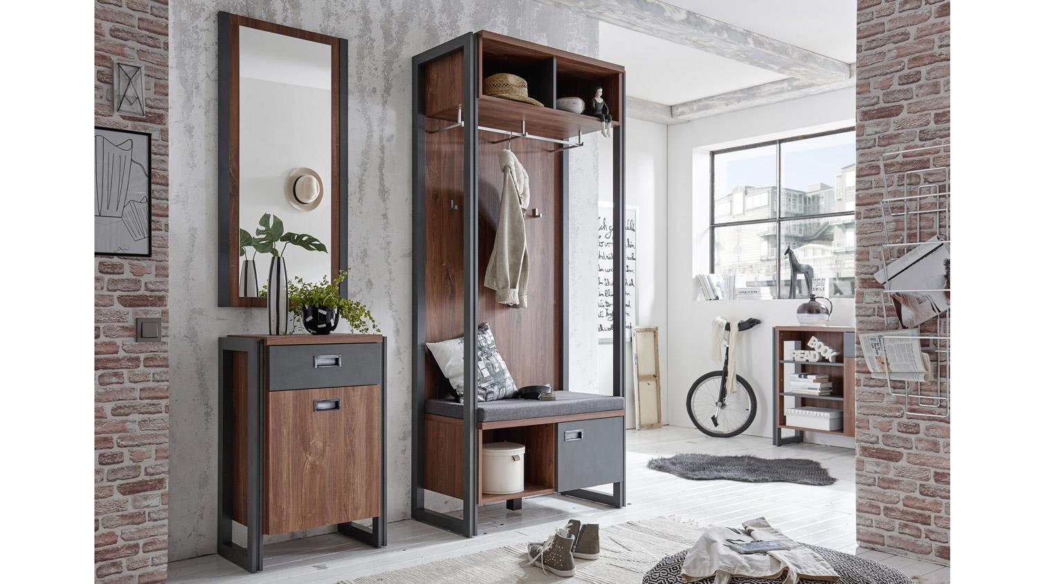 garderobe detroit flurm bel in stirling oak und matera. Black Bedroom Furniture Sets. Home Design Ideas