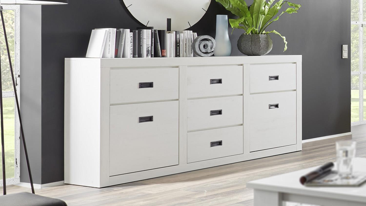 sideboard biarritz anrichte in pinie wei. Black Bedroom Furniture Sets. Home Design Ideas