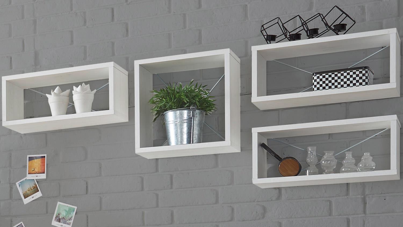 wandregal frames wandkasten in pinie wei w rfel. Black Bedroom Furniture Sets. Home Design Ideas