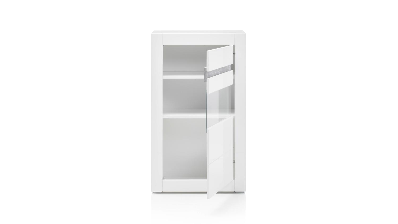 standvitrine carat vitrine glasvitrine wei hochglanz und beton grau. Black Bedroom Furniture Sets. Home Design Ideas