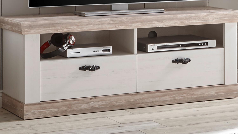tv board florenz lowboard fernsehunterschrank oslo pinie wei 134 cm. Black Bedroom Furniture Sets. Home Design Ideas