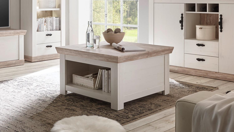 couchtisch florenz wohnzimmertisch beistelltisch in oslo pinie wei. Black Bedroom Furniture Sets. Home Design Ideas