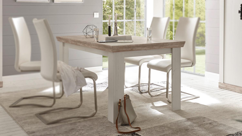 esstisch florenz k chentisch tisch esszimmertisch in oslo pinie wei. Black Bedroom Furniture Sets. Home Design Ideas
