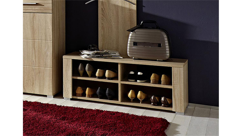 schuhbank point bank in sonoma eiche s gerau hell. Black Bedroom Furniture Sets. Home Design Ideas
