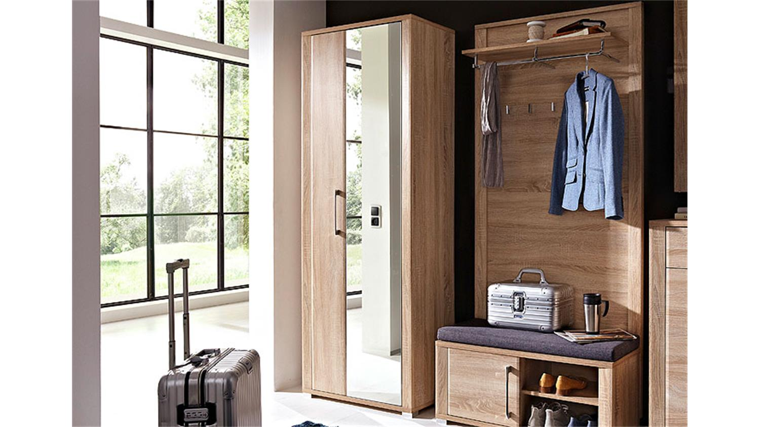 garderobenschrank go flurm bel in eiche sonoma hell dekor. Black Bedroom Furniture Sets. Home Design Ideas