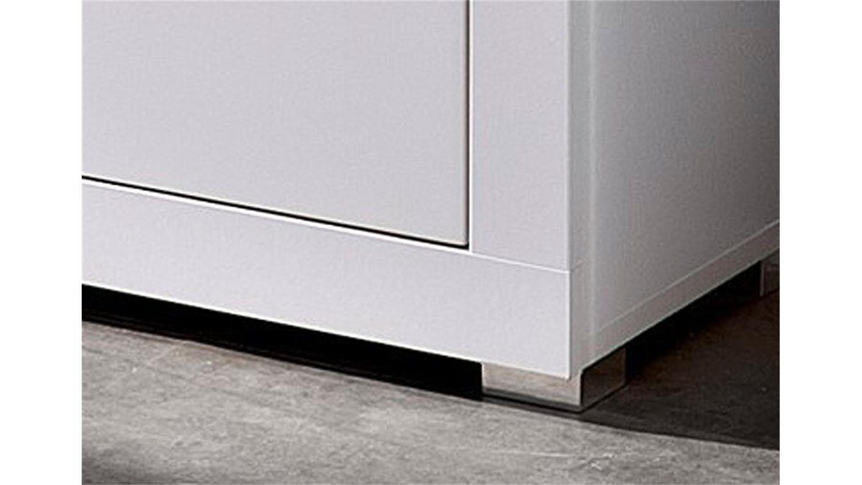 garderobenschrank life in wei t r in hochglanz und spiegel. Black Bedroom Furniture Sets. Home Design Ideas