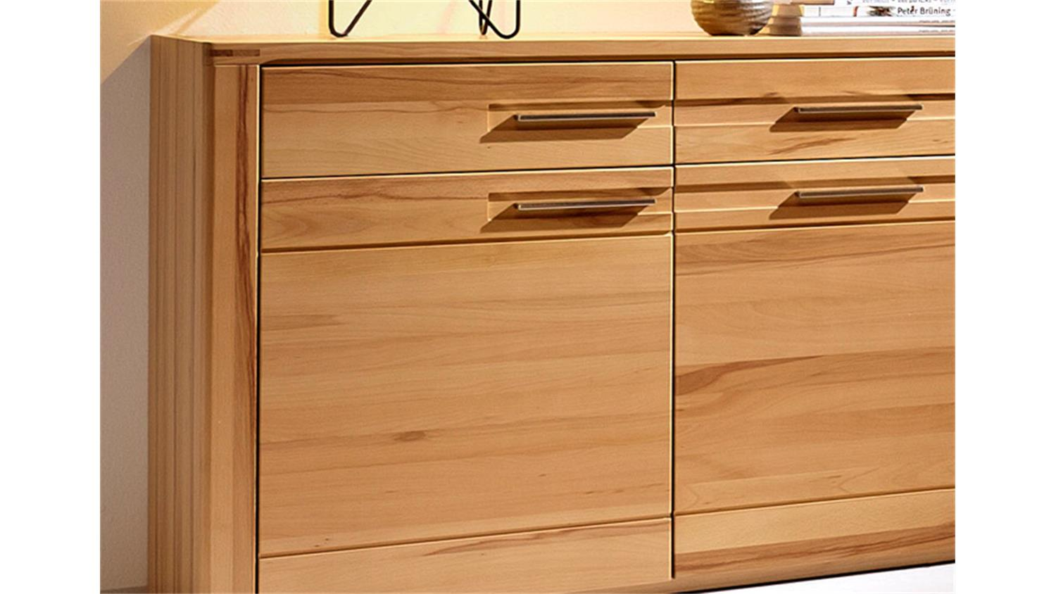 Sideboard Nature Plus Kernbuche Teilmassiv Lackiert