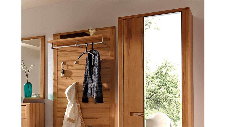 Garderobe nature plus set 5 tlg kernbuche teilmassiv lackiert for 3 teilige garderobe