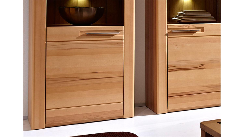 vitrine nature plus in kernbuche teilmassiv lackiert 3er set. Black Bedroom Furniture Sets. Home Design Ideas