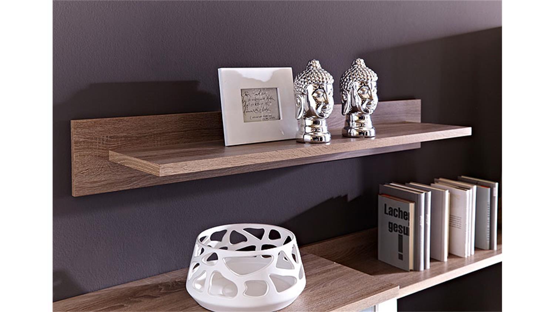 wohnwand sana wei hochglanz mdf sonoma eiche inkl led. Black Bedroom Furniture Sets. Home Design Ideas