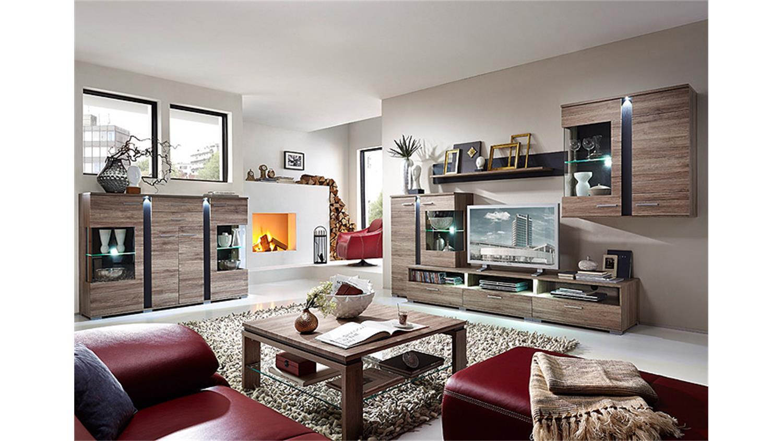 highboard spot san remo eiche schiefer led. Black Bedroom Furniture Sets. Home Design Ideas