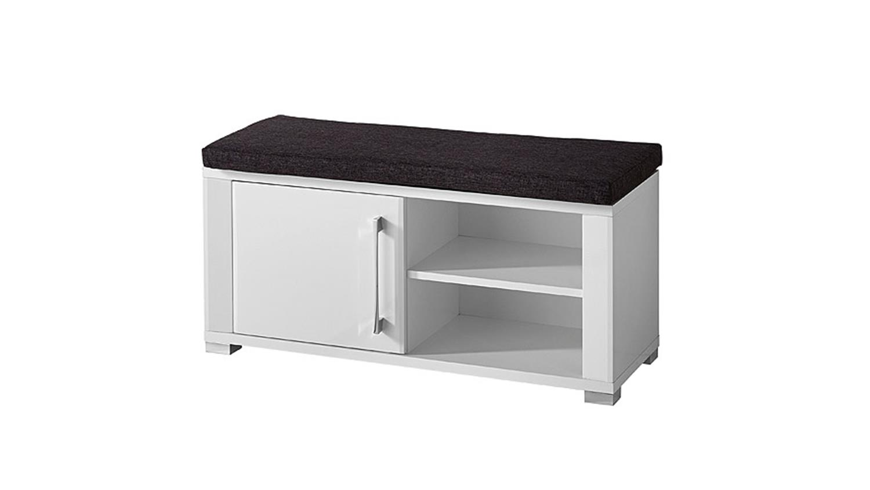 bank go wei hochglanz mdf inkl sitzkissen grau. Black Bedroom Furniture Sets. Home Design Ideas