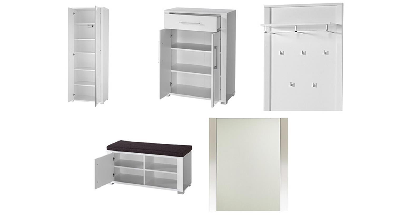 flurm bel weiss hochglanz. Black Bedroom Furniture Sets. Home Design Ideas