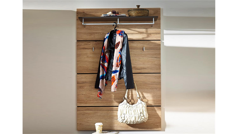 Garderobenpaneel eiche rustikal bestseller shop f r for Garderobenpaneel shop