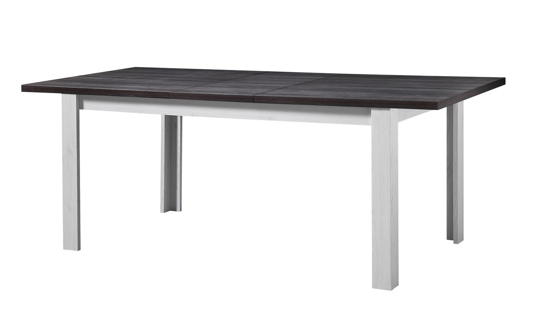Esstisch antwerpen tisch l rche und pinie dunkel ausziehbar for Tisch dunkel