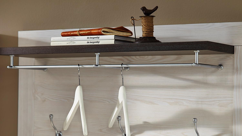 garderobenpaneel antwerpen in l rche und pinie dunkel. Black Bedroom Furniture Sets. Home Design Ideas